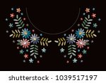embroidery neckline floral...   Shutterstock .eps vector #1039517197