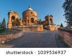 san luca sanctuary in a sunny... | Shutterstock . vector #1039536937