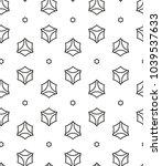 geometric ornamental vector... | Shutterstock .eps vector #1039537633