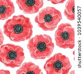 red poppies  painted with... | Shutterstock . vector #1039540057