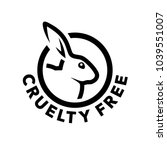 Stock vector cruelty free concept logo design with rabbit symbol not tested on animals icon vector 1039551007