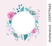 spring flowers and leaves frame ... | Shutterstock .eps vector #1039579663