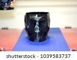 3d printer printing a model in... | Shutterstock . vector #1039583737