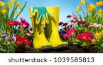 gardening tool and flower in...   Shutterstock . vector #1039585813