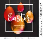 easter background template.... | Shutterstock .eps vector #1039602127