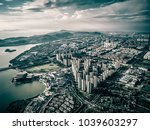 aerial view of chinese city   Shutterstock . vector #1039603297