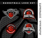 set basketball sport logo | Shutterstock .eps vector #1039606693