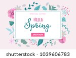 spring sale   special offer... | Shutterstock .eps vector #1039606783