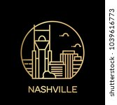 nashville city icon. vector... | Shutterstock .eps vector #1039616773