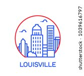 louisville city icon. vector... | Shutterstock .eps vector #1039616797