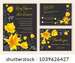 vector set of invitation cards... | Shutterstock .eps vector #1039626427