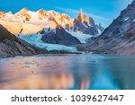 amazing sunrise view of cerro...   Shutterstock . vector #1039627447