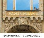 sign maedler passage in leipzig ... | Shutterstock . vector #1039629517