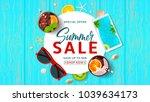 promo web banner for summer... | Shutterstock .eps vector #1039634173
