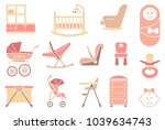 furniture and equipment for...   Shutterstock .eps vector #1039634743