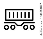 container railcar   freight...   Shutterstock .eps vector #1039634827