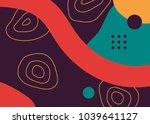 colorful pop art geometric...   Shutterstock .eps vector #1039641127