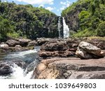 view of caracol waterfall  ... | Shutterstock . vector #1039649803