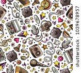 cartoon hand drawn musical...   Shutterstock .eps vector #1039678957