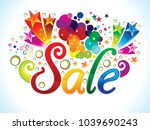 abstract artistic creative sale ... | Shutterstock .eps vector #1039690243