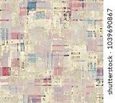 abstract patchwork motif... | Shutterstock . vector #1039690867