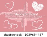 happy birthday in different...   Shutterstock .eps vector #1039694467