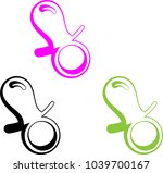 baby pacifier icon vector art... | Shutterstock .eps vector #1039700167