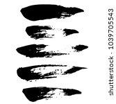 grunge ink brush strokes set....   Shutterstock .eps vector #1039705543