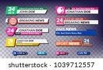 tv news bars set. breaking ... | Shutterstock . vector #1039712557
