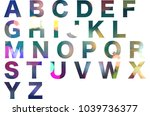 abc  alphabet letters isolated... | Shutterstock . vector #1039736377
