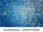 abstract blue tile. blue mosaic.... | Shutterstock .eps vector #1039743583
