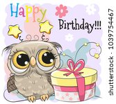 greeting birthday card cute... | Shutterstock .eps vector #1039754467
