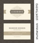 luxury business card and... | Shutterstock .eps vector #1039754593