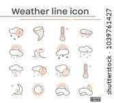 line icons of weather | Shutterstock .eps vector #1039761427