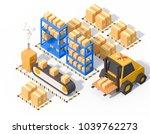 warehouse operations storage...   Shutterstock . vector #1039762273