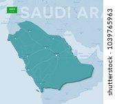 3d verctor map of cities and... | Shutterstock .eps vector #1039765963
