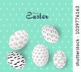 easter sale banner background...   Shutterstock .eps vector #1039776163