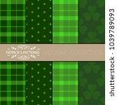 clover leaf hand drawn doodle...   Shutterstock .eps vector #1039789093