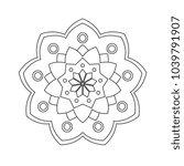 line art vector mandala   Shutterstock .eps vector #1039791907