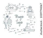 children's toys for the boy ... | Shutterstock .eps vector #1039794067