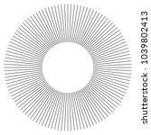 black radial  radiating lines... | Shutterstock .eps vector #1039802413