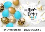 happy easter sale banner... | Shutterstock .eps vector #1039806553