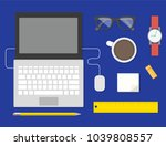 workplace concept and business... | Shutterstock .eps vector #1039808557