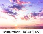 setting sun evening scene  | Shutterstock . vector #1039818127