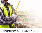 construction site and male... | Shutterstock . vector #1039823017