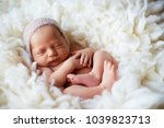 baby  newborn  fur  skin  care... | Shutterstock . vector #1039823713