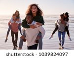 group of friends having... | Shutterstock . vector #1039824097