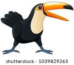 happy cute cartoon toucan.... | Shutterstock .eps vector #1039829263