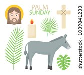 palm sunday vector flat icon...   Shutterstock .eps vector #1039841233