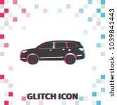 car  glitch effect vector icon. ...